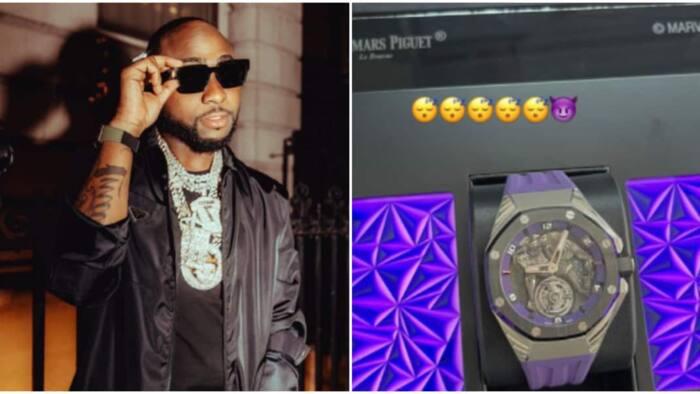 Nigerian singer Davido spends millions on new designer wristwatch; shares photo