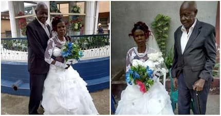 Meet adorable elderly Nigerian couple who weds in style (photos)