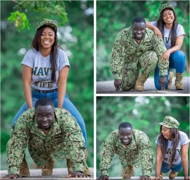 Beautiful pre-wedding photos of a soldier and his lover (photos)
