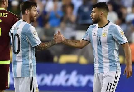 Sergio Aguero reacts to reports linking Lionel Messi to Manchester City