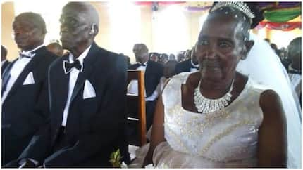 90-year-old groom and beautiful 83-year-old bride tie the knot (photos)