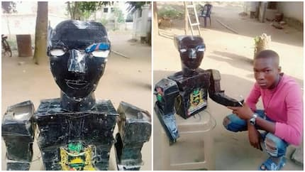 See the robot that was constructed by a young man from the south-east