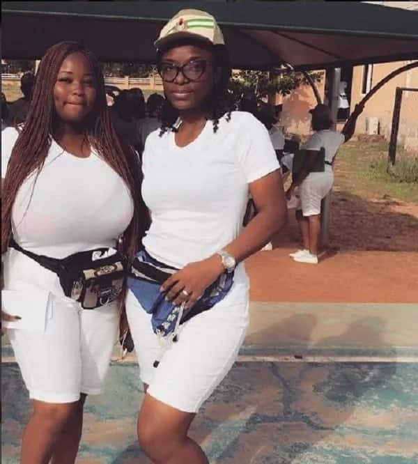 Heavy-chested Female Corper Stirs Controversy on Social Media (Photos)