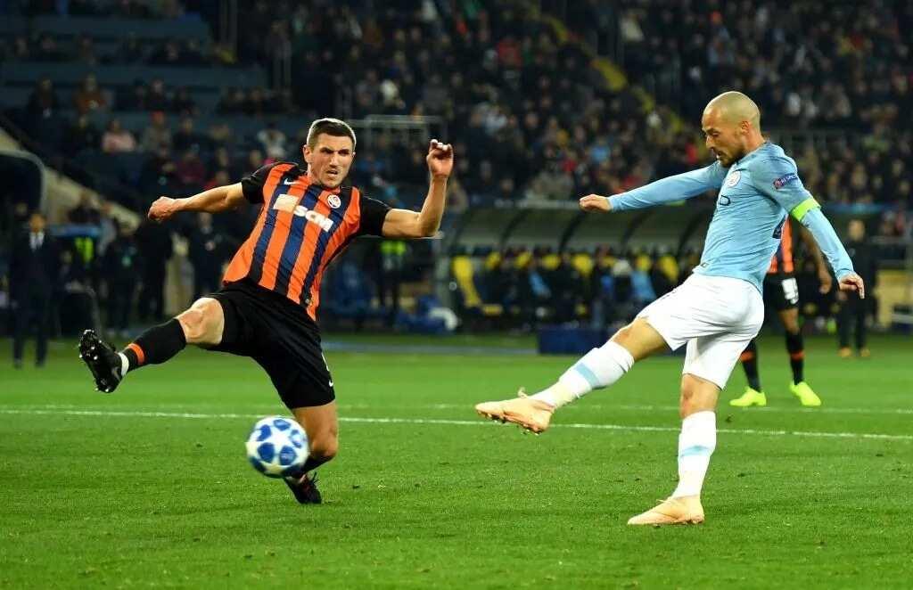 UCL: Silva's volley helps Man City hammer Shakhtar Donetsk 3-0 in Ukraine
