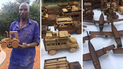 Talented man constructs toy cars from wood (photos)