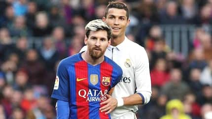 Check out what hot Hollywood actress was spotted doing with Messi and Ronaldo (photos)