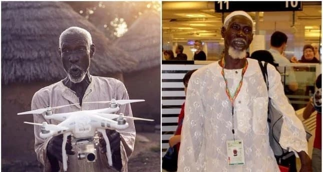 Poor African man who was asking if a drone can take him to Mecca gets his dream fulfilled